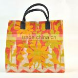 Wholesale Lots Of Vintage Kantha Leather Handle Shopping Bags Handbags~Sourced from factory in India