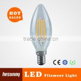 Full glass 400lm E14 4W dimmable led filament candle bulb                                                                         Quality Choice