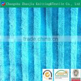 Glazed and dull stripe bio-colored custom print long pile plush fabric from China factory