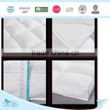 soft white plain home textile washed feather down matress topper