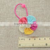 Cute colorful flower hair band fabric pearl beaded hair ring decoration