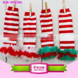 In Stock! Holiday Baby Gifts Baby Leg Warmers Christmas Red White Stripe Leg Warmer for kids