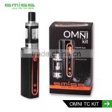 hot selling free samples Smiss OMNi TC kit electronic cigarette vape mods 50W vape starter kit china suppliers
