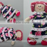 "Soft handmade fabric doll ""Ann"" for games or interior decoration"