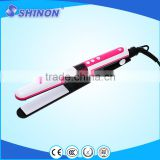 Personalized hair straightener hair flat iron lcd with vibration function