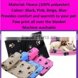 Best Selling Beautiful Cat & Dog Bed Crate Pad Pet Cushion Mat Soft Jumbo Paws printed Pet Blanket