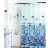 Double swag shower curtain with valance,Shower curtain
