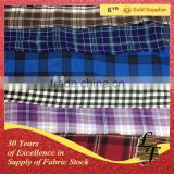 china supplier yarn dyed flannel check stock lot fabric for shirt