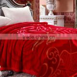 Winter blanket bed sheets raschel blanket double layer mink blanket