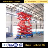 Convenient and efficient mobile electric scissor lift table hydraulic cargo lift elevator used