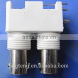 BNC DOUBLE FEMALE RIGHT ANGLE PANEL MOUNT,(BNC CONNECTOR )