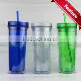 Promotional Insulated Acrylic Tumbler with Straw                                                                         Quality Choice