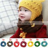 WJ8198 Spring and Autumn Children's Cotton scarf Muffler Baby Warm Scarf Boy /Girl Knitted O Ring Scarf