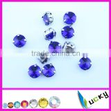 Blank sew on jewels rhinestones with metal claw settings strass crystal beads for jewelry maker