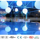 Beautiful decorative color changing plastic led crystal magic ball light