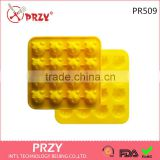 PR525 PRZY 16 even bear head silicone Cake mould fondant cake mold taste hand made sample processing