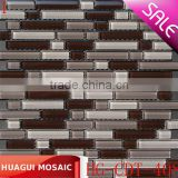 Philippines dark brown floor tile mosaic HG-CDT-408