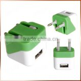 Folding Plug Quality 12V Power Charger, Dice Charger Branded OEM Travel Charger For US EU Market