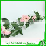 Plastic hanging leaves, artificial leaf rattan ,synthetic rattan, artificial wall hanging flowers
