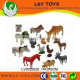"Simulation 2"" plastic farm animals toys farm for sale"