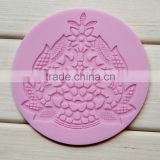 Wholesale Food grade non stick flexible heat resistant round fondant lace mold mat sheet