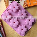 CTBED069 Chocolate Freezer Cake Mold Silicone Products 6 Even The Petals Flower Silicone Cake Mould