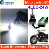 China factory supply motorcycle tuning parts Motorcycle COB LED light 4PCS*6W Super brightness Long lifespan