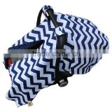 21% Off Navy Blue and White Chevron Pattern Comfortable Baby Boy Car Seat Cover