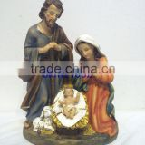 Factory poly resin Jesus religious nativity family statues religious figures with baby jesus