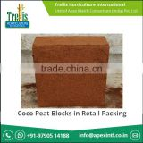 Canadian Coco Peat Buyers Blocks in Retail Packing from Bulk Supplier