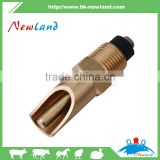 2015 new type cheapest easy to use pig Brass Nipple Drinker