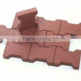 red face dog-bone pavers rubber bricks 40mm