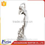 Italian Carrara stone nude girl statues with base NTMS-047Y