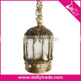 Fashion Jewelry Birdcage Design Antique Bronze Necklace with Pendant