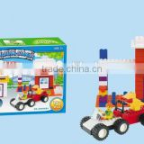 Confirm to EN71 Diy 151pieces toy colorful plastic building blocks toys