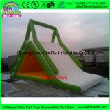 Water play equipment triangle water slide with air pump,5m long inflatable water slide for sale