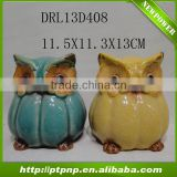 new design ceramic owl plant pots for home and garden decoration