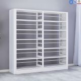 White Metal Library Furniture Book Shelf With Modern Design