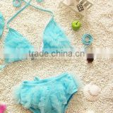 Children Fashion Three-piece Cute Lace Girls Small Bikini