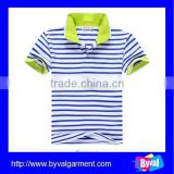 kids clothes unisex sets polo shirt cotton plain stripe kids polo shirt for children