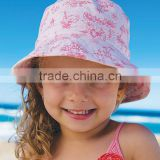 Hot Selling Girls Sunhat With Pink And Red Summer Sun Reversible Bucket Hat Girl Summer Hat Kids Wear A-NP-KC905-343
