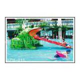 Frog Shape Water Pool Slides, Aqua Park Fiberglass Small Slide For Kids