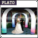 Fashion inflatable curve cone for event/brilliant inflatable curve cone with light for wedding