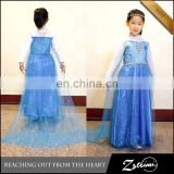 2015 Wholesale Halloween Frozen Princess Elsa Costume Children Girl Dress