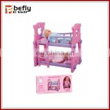 Baby toy doll bed with doll