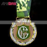 Custom design color brilliancy marathon running title sport ranked race metal medal