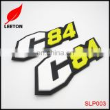 Factory custom colors rubber PVC label patches