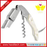 White Color Professional Stainless Steel with Moonstone Resin Inlay All-in-one Corkscrew, Bottle Opener and Foil Cutter