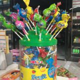 Colorful Fruity Hard Candy CANDY Shape Lollipop
