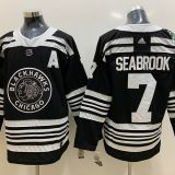 Chicago Blackhawks #7 Seabrook Black Jersey